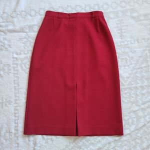 Vtg 1970s Red High Waisted Skirt
